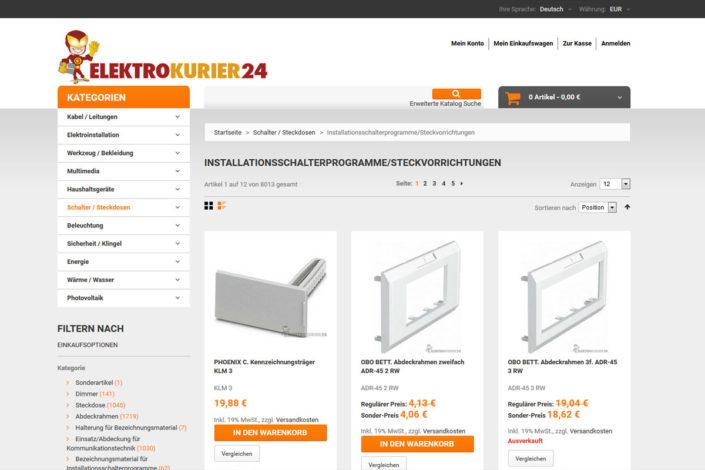 Onlineshop für Elektrokurier24.de