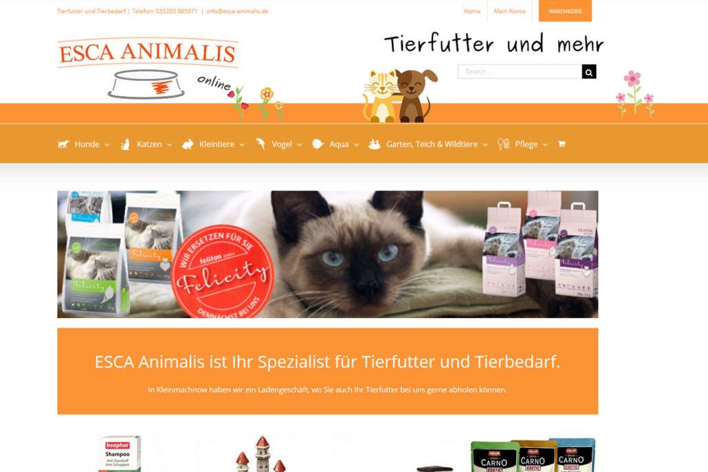 Onlineshop für ESCA-Animalis in Kleinmachnow