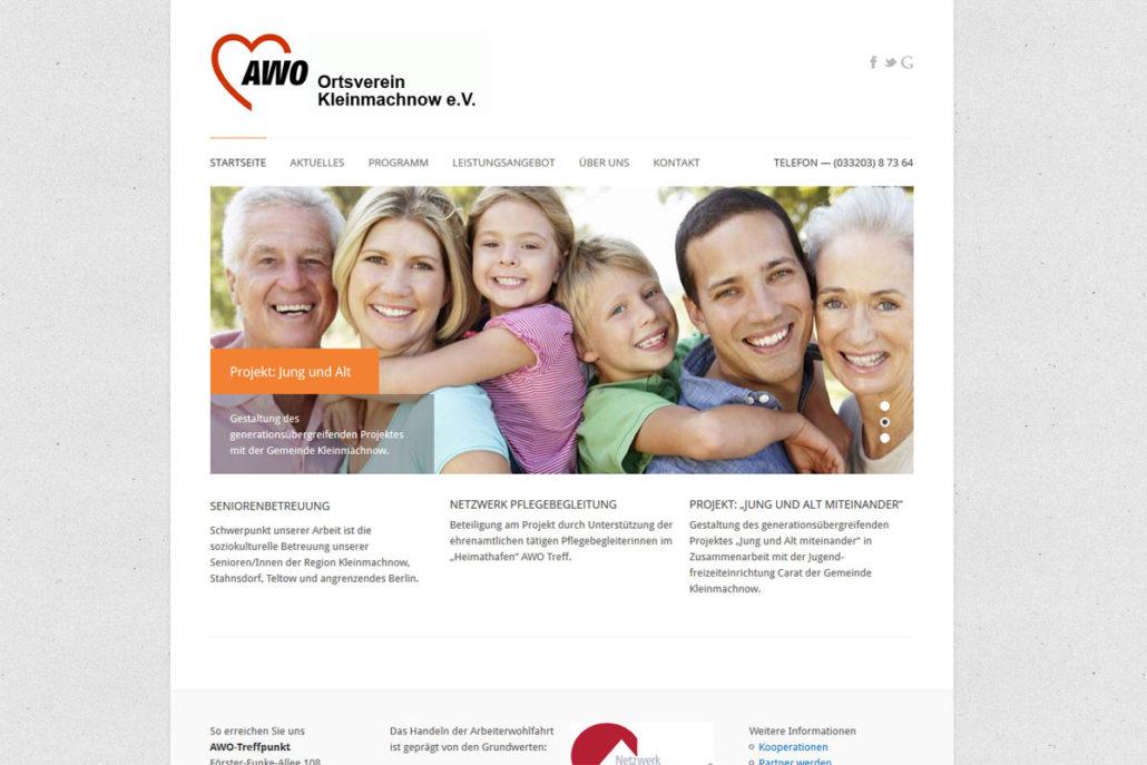 Webdesign für AWO Kleinmachnow e.V.