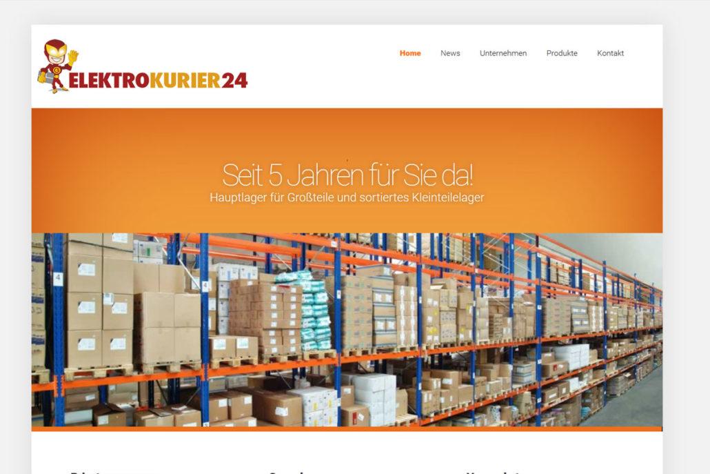 Webdesign für den Elektrokurier24.de