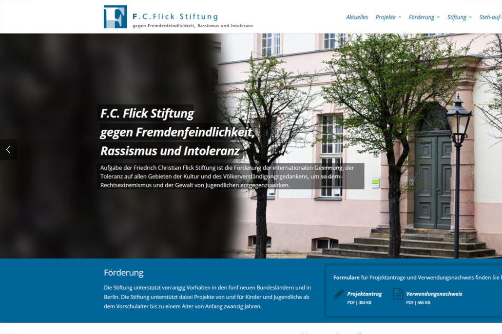 Webdesign für F.C. Flick Stiftung in Potsdam