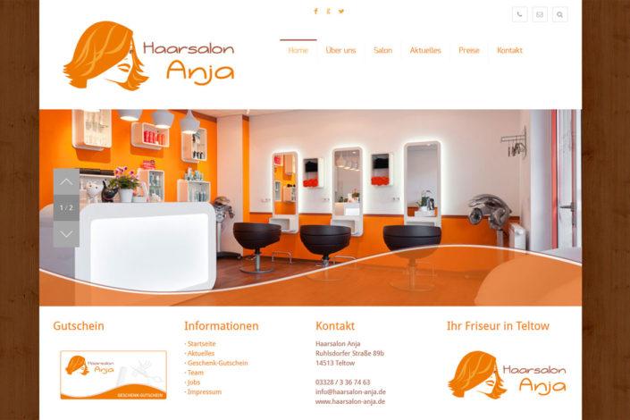 Webdesign für den Friseur Haarsalon Anja in Teltow