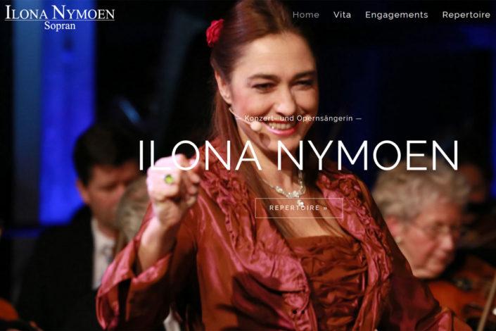 Webdesign für die Opersängerin Ilona Nymoen