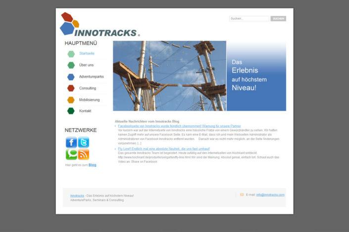 Webdesign für Innotracks
