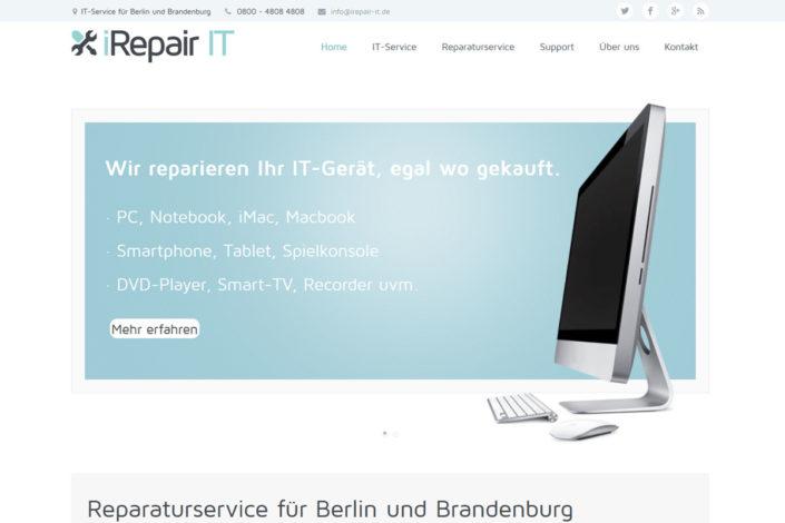 Webdesign für die iRepair IT GmbH