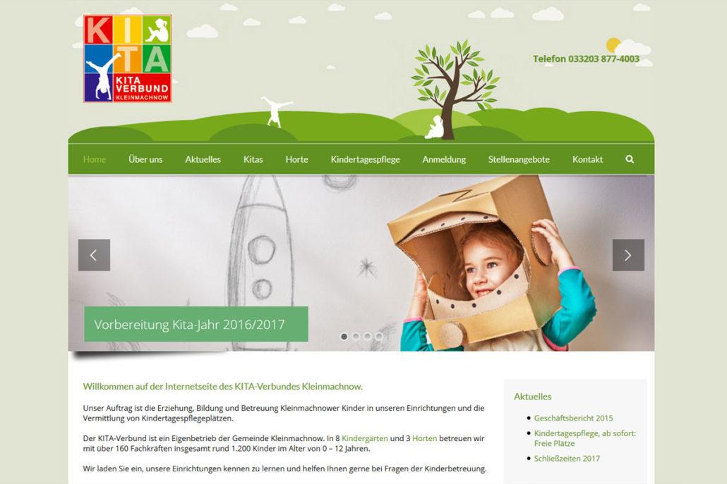 Webdesign für den KITA-Verbund Kleinmachnow