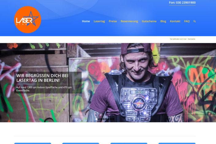 Webdesign für die Lasertaganlage LaserStar in Berlin