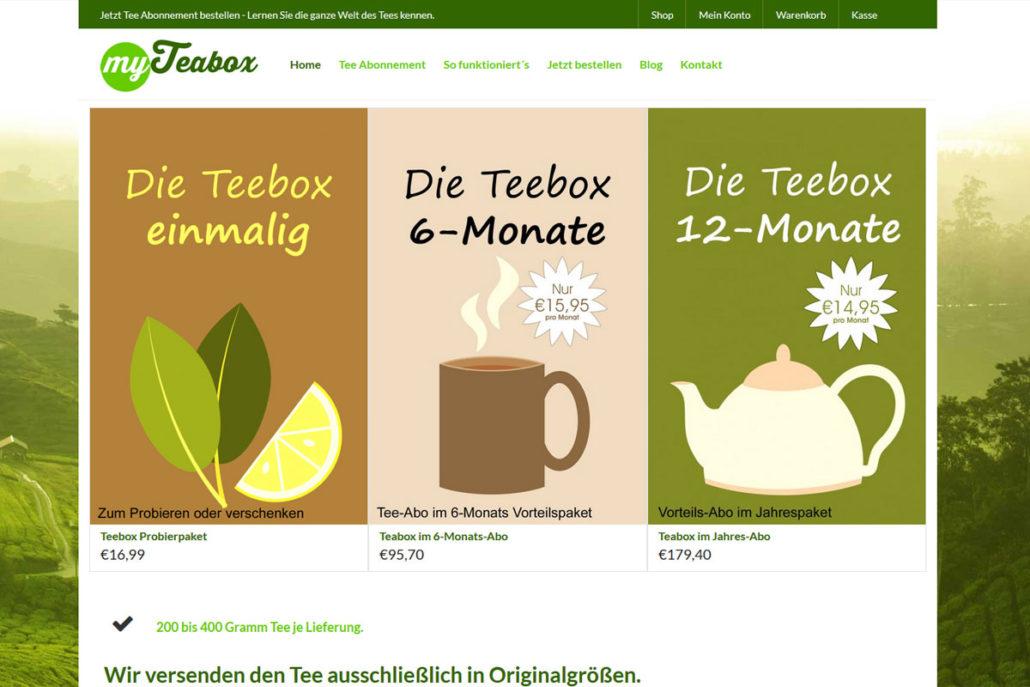 Onlineshop für MyTeabox.de