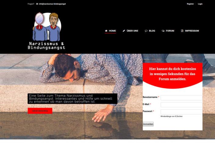Webdesign für das Portal/Forum Narzissmus & Bindungsangst