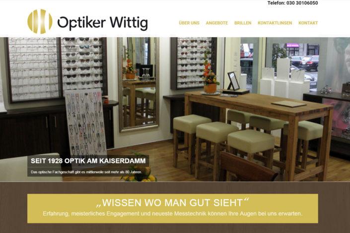Webdesign / Redesign für Optiker Wittig GmbH