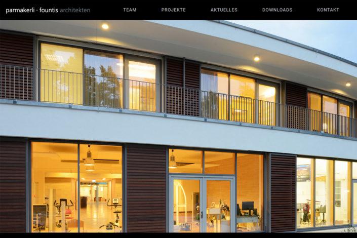 Webdesign für Parmakerli und Founts Architekten GmbH