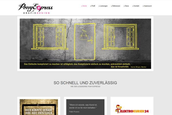 Webdesign für die Grafikagentur PonyExpress Design