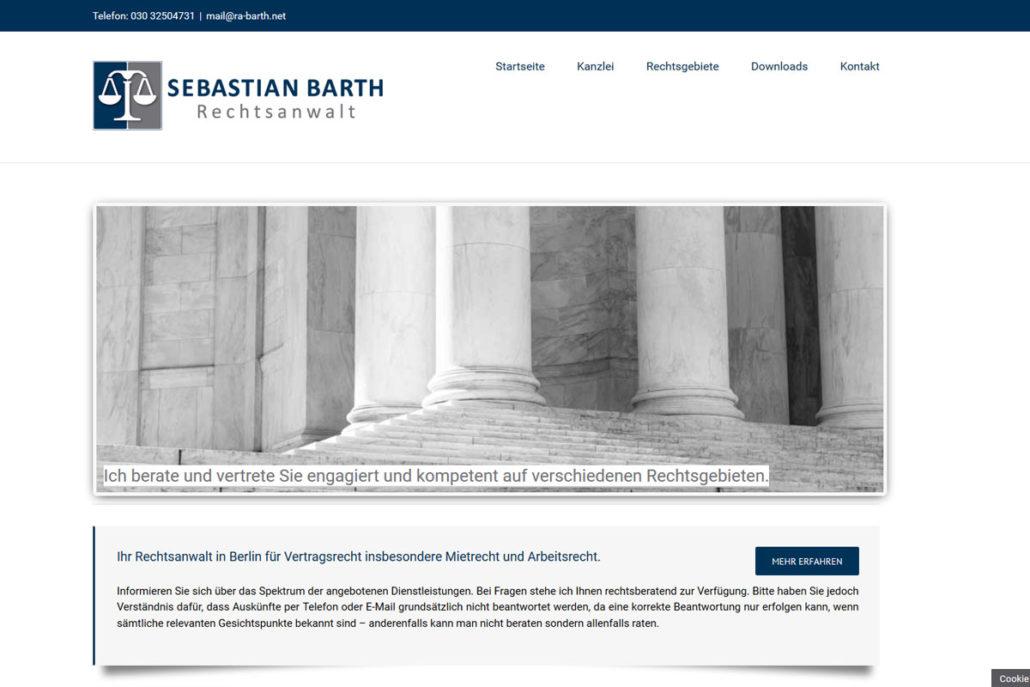 Webdesign für den Rechtsanwalt Sebastian Barth in Berlin-Wilmersdorf
