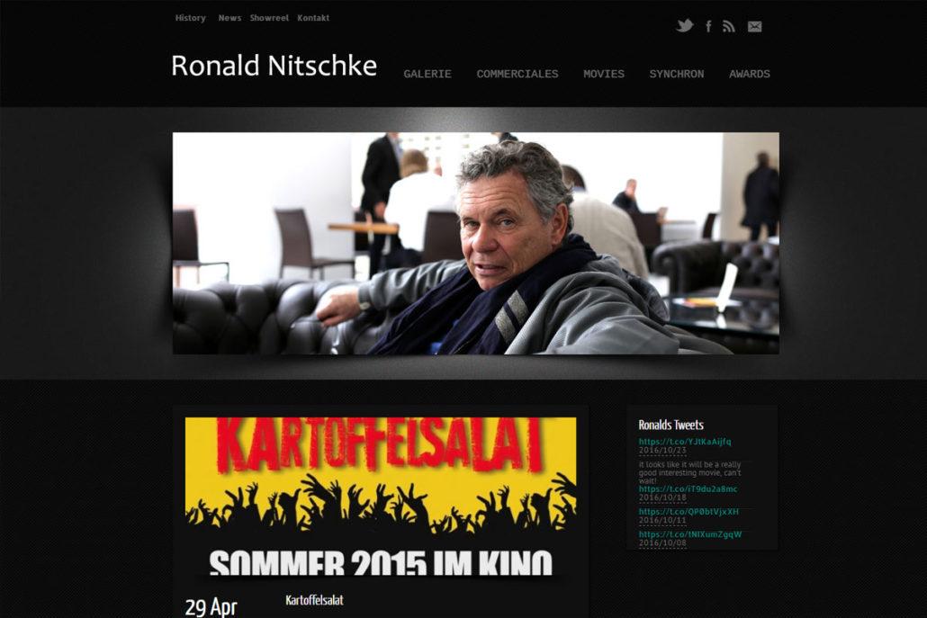 Webdesign für den Synchronsprecher/Schauspieler Ronald Nitschke
