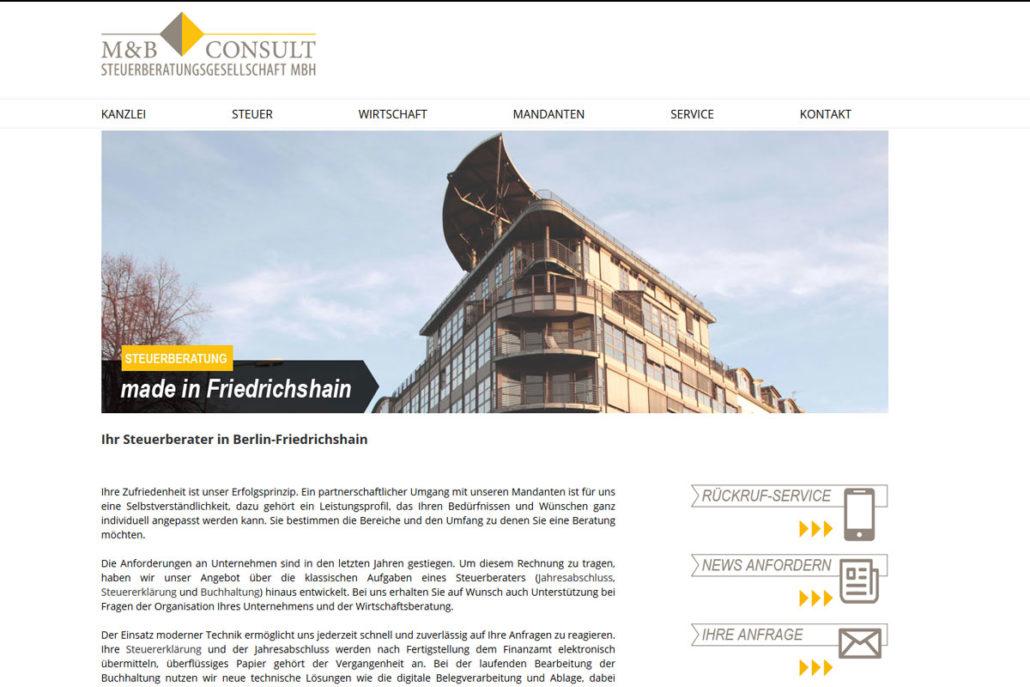 Webdesign für die Steuerkanzlei M& Steuerconsult